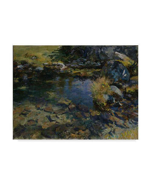 "Trademark Global John Singer Sargent 'Alpine Pool' Canvas Art - 47"" x 35"""