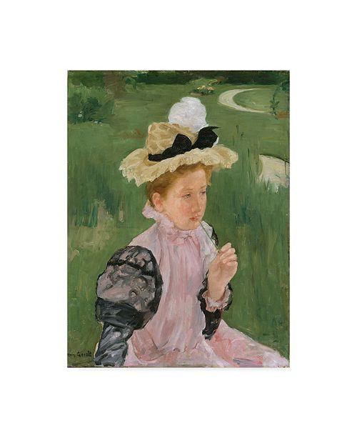 """Trademark Global Mary Stevenson Cassatt 'Portrait Of A Young Girl' Canvas Art - 47"""" x 35"""""""
