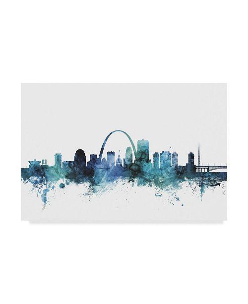 Trademark Global Michael Tompsett 'St Louis Missouri Blue