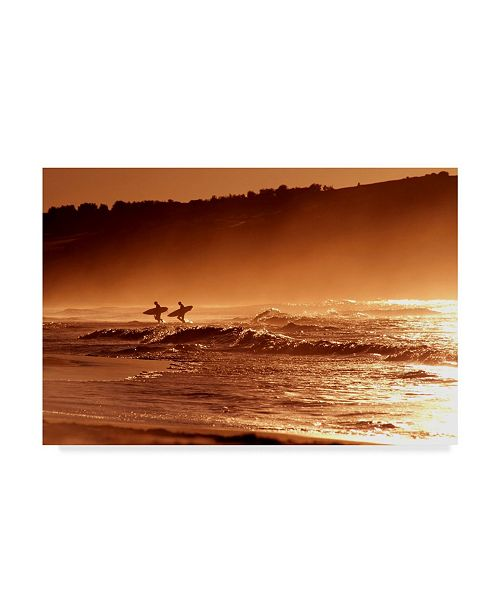 "Trademark Global Incredi 'Orange Day' Canvas Art - 32"" x 22"""