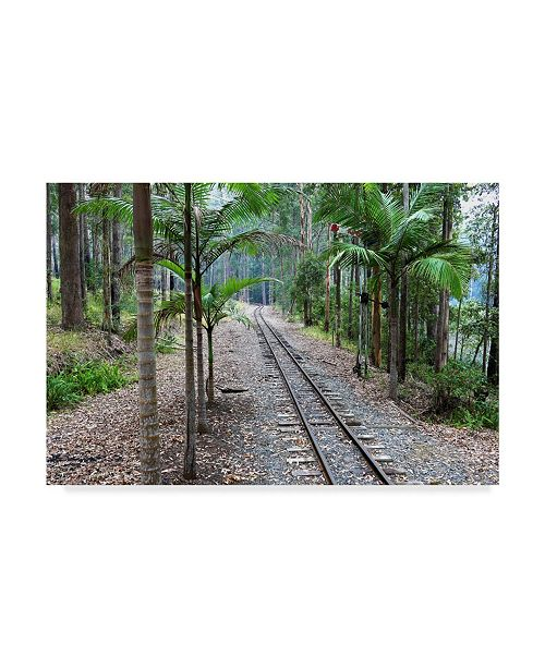 "Trademark Global Incredi 'Tracks Train' Canvas Art - 32"" x 22"""