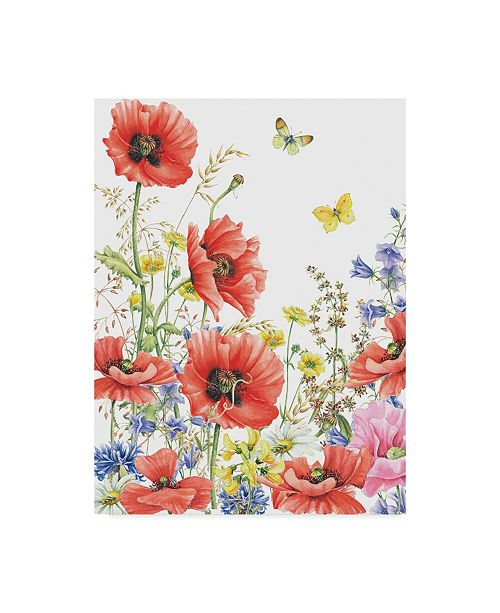 "Trademark Global Janneke Brinkman-Salentijn 'Large Red Poppies' Canvas Art - 35"" x 47"""