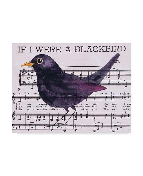 """Trademark Global Jane Wilson 'If I Were A Blackbird' Canvas Art - 47"""" x 35"""""""