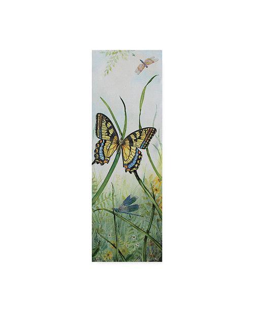 "Trademark Global Jean Plout 'Otanical Beauties' Canvas Art - 6"" x 19"""