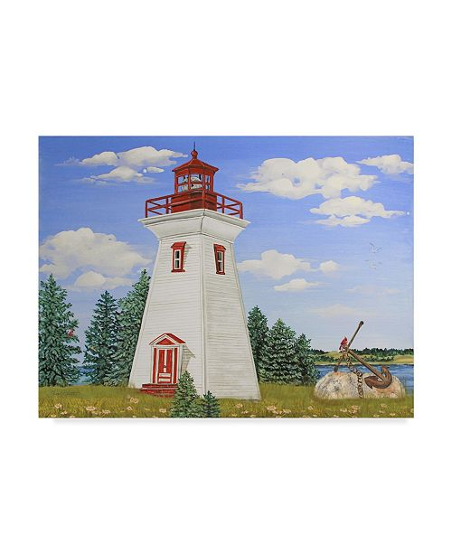"Trademark Global Jean Plout 'Summer Lighthouse 2' Canvas Art - 47"" x 35"""