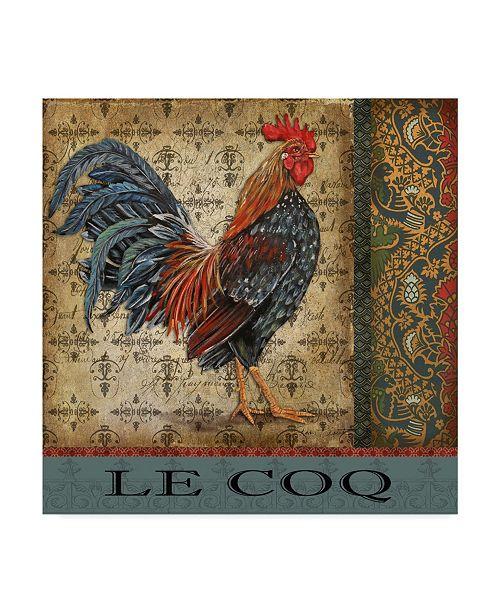 "Trademark Global Jean Plout 'Vintage Le Coq 4' Canvas Art - 35"" x 35"""