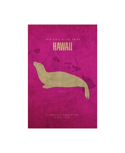 "Trademark Global Red Atlas Designs 'State Animal Hawaii' Canvas Art - 30"" x 47"""