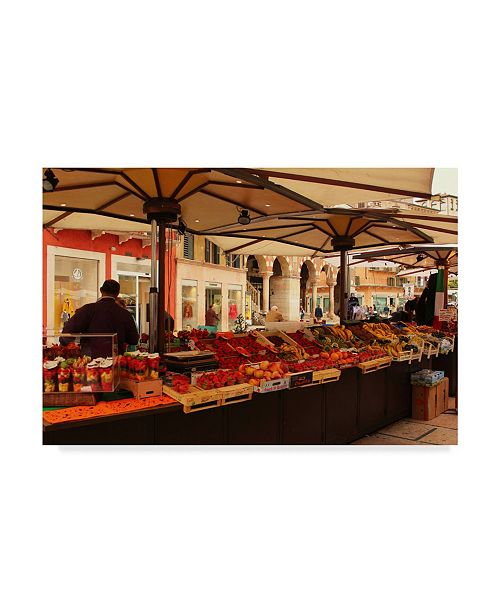 "Trademark Global Les Mumm 'Verona Market' Canvas Art - 32"" x 22"""