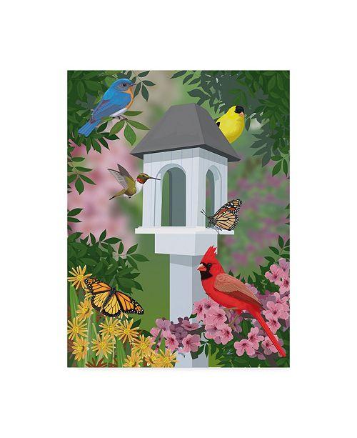 "Trademark Global Mike Hughes 'Birdhouse White' Canvas Art - 24"" x 32"""