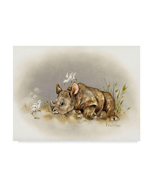 "Trademark Global Peggy Harris 'Rhino Baby' Canvas Art - 32"" x 24"""