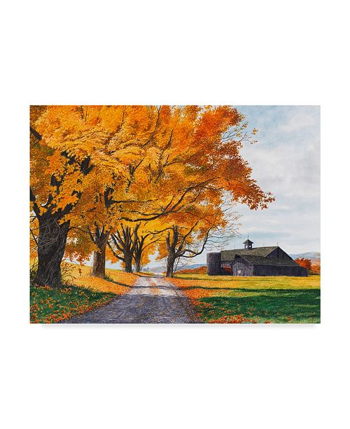"Trademark Global Michael Davidoff 'Golden Maples' Canvas Art - 32"" x 24"""