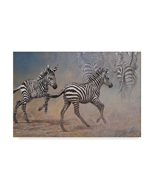 "Trademark Global Michael Jackson 'Zebra In The Dust' Canvas Art - 47"" x 30"""