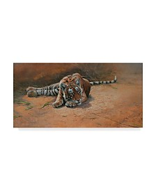 "Michael Jackson 'Tiger Cub Heat Of The Day' Canvas Art - 32"" x 16"""