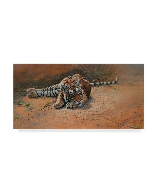 "Trademark Global Michael Jackson 'Tiger Cub Heat Of The Day' Canvas Art - 32"" x 16"""
