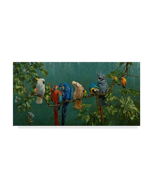 "Trademark Global Michael Jackson 'Perroquets' Canvas Art - 32"" x 16"""