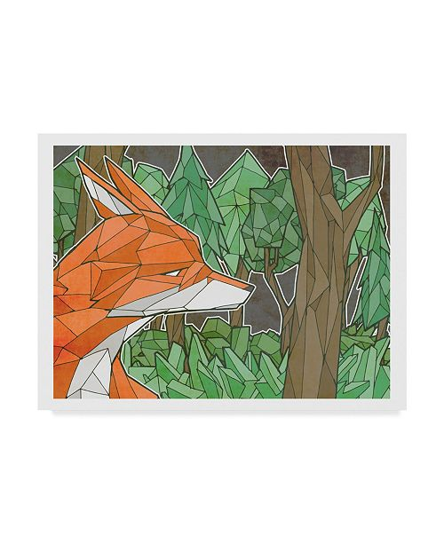 "Trademark Global Ric Stultz 'Fox In The Woods' Canvas Art - 24"" x 18"""