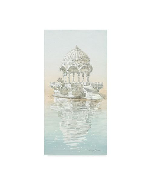 """Trademark Global Michael Jackson 'White Traditional Architecture' Canvas Art - 24"""" x 47"""""""