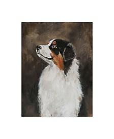"""Solveiga 'Australian Shepherd Abstract' Canvas Art - 35"""" x 47"""""""