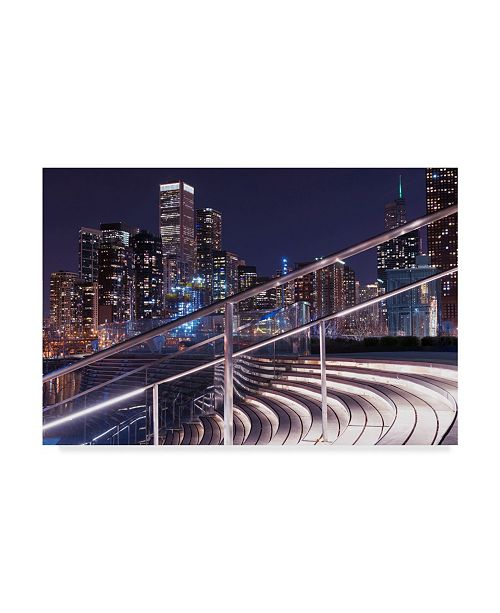 "Trademark Global Njr Photos 'Wavy Stairs' Canvas Art - 47"" x 30"""
