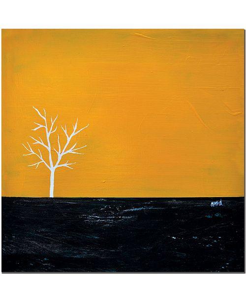 "Trademark Global Yellow on White Series by Nicole Dietz Canvas Art - 24"" x 24"""