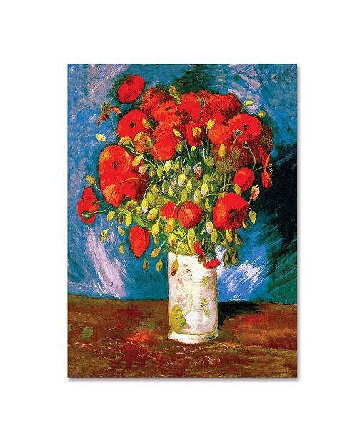 "Trademark Global Vincent Van Gogh 'Poppies' Canvas Art - 47"" x 35"""