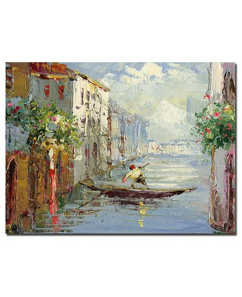 "Trademark Global Rio 'Gondola' Canvas Art - 47"" x 35"""