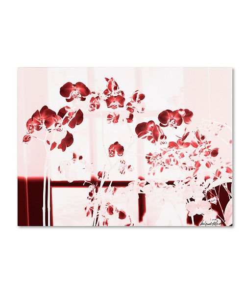 """Trademark Global Miguel Paredes 'Red Orchids' Canvas Art - 47"""" x 35"""""""