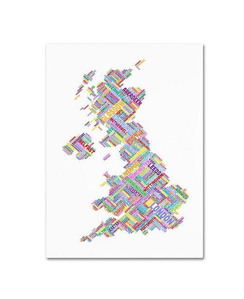 "Trademark Global Michael Tompsett 'United Kingdom IV' Canvas Art - 32"" x 22"""
