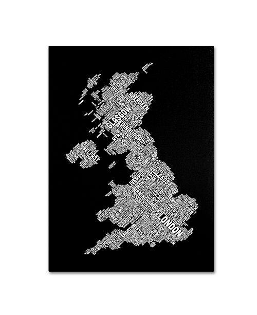 "Trademark Global Michael Tompsett 'United Kingdom VIII' Canvas Art - 32"" x 22"""