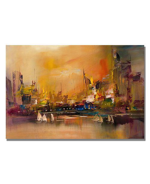"Trademark Global Rio 'City Reflections' Canvas Art - 24"" x 18"""