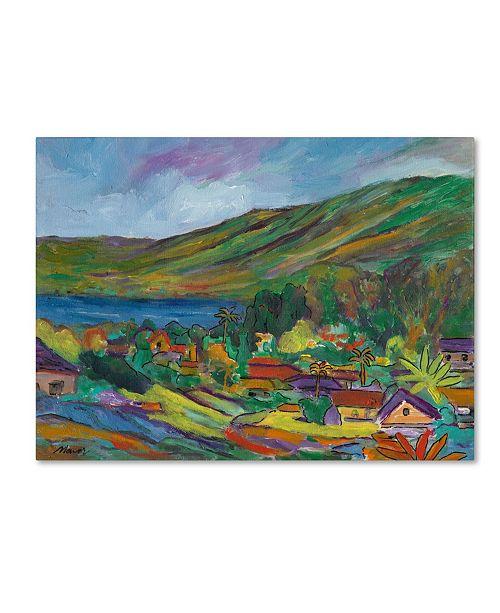 "Trademark Global Manor Shadian 'Hana Bay' Canvas Art - 47"" x 35"""