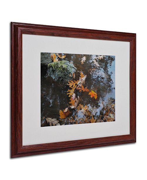 "Trademark Global Monica Fleet 'Buoyant' Matted Framed Art - 20"" x 16"""