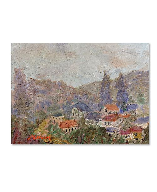 "Trademark Global Manor Shadian 'Misty Morning' Canvas Art - 24"" x 32"""
