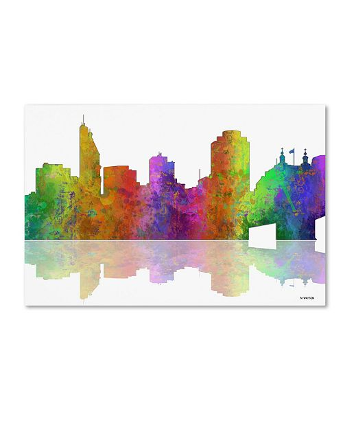 "Trademark Global Marlene Watson 'Cincinatti Ohio Skyline' Canvas Art - 22"" x 32"""