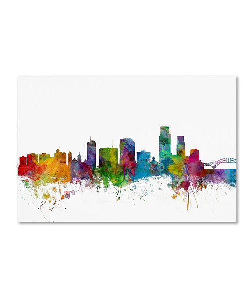 "Trademark Global Michael Tompsett 'Corpus Christie Texas Skyline' Canvas Art - 30"" x 47"""