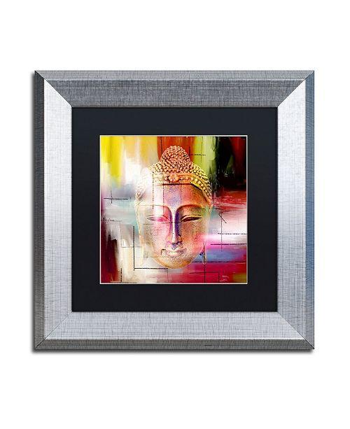 "Trademark Global Mark Ashkenazi 'Buddha Face 4' Matted Framed Art - 11"" x 11"""