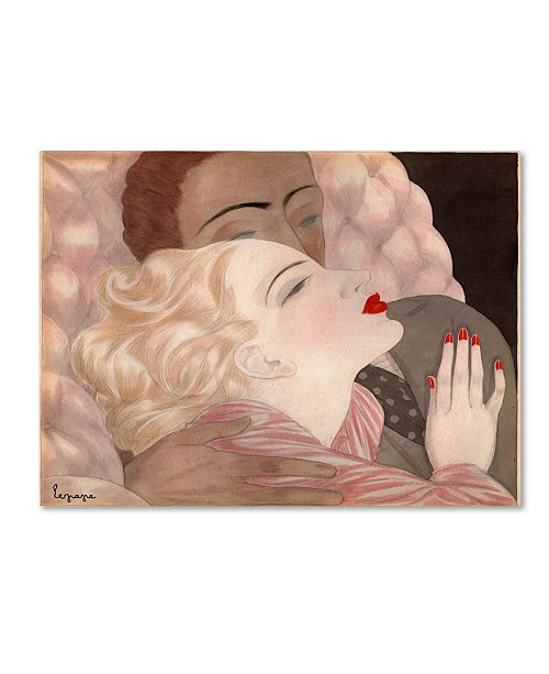 """Trademark Global Vintage Apple Collection 'Love By Le Pape' Canvas Art - 14"""" x 19"""""""