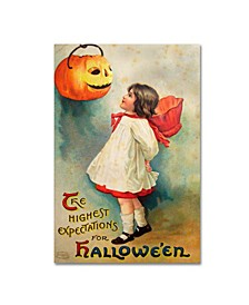 """Vintage Apple Collection 'Halloween Expectations' Canvas Art - 12"""" x 19"""""""