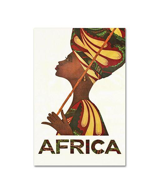 "Trademark Global Vintage Apple Collection 'Africa Turban' Canvas Art - 12"" x 19"""