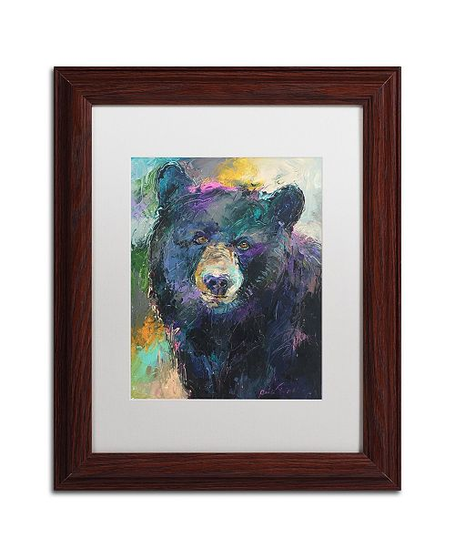 """Trademark Global Richard Wallich 'Art Bear' Matted Framed Art - 11"""" x 14"""""""