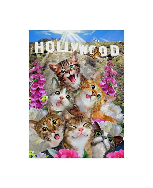 "Trademark Global Howard Robinson 'Kittens In Hollywood' Canvas Art - 14"" x 19"""