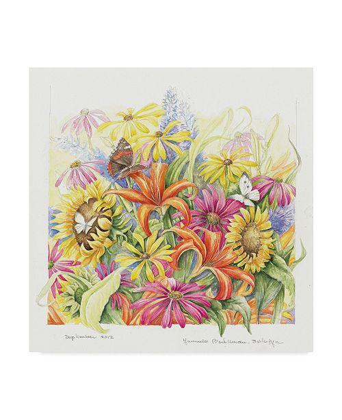 "Trademark Global Janneke Brinkman-Salentijn 'September Bouquet' Canvas Art - 14"" x 14"""