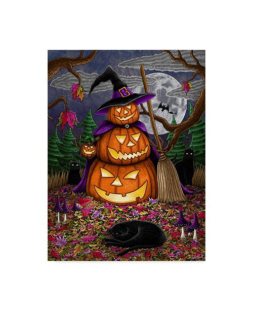 "Trademark Global Jake Hose 'Halloween Magic' Canvas Art - 14"" x 19"""