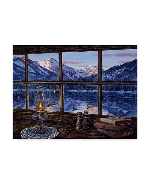 """Trademark Global Jeff Tift 'A Room With A View' Canvas Art - 14"""" x 19"""""""