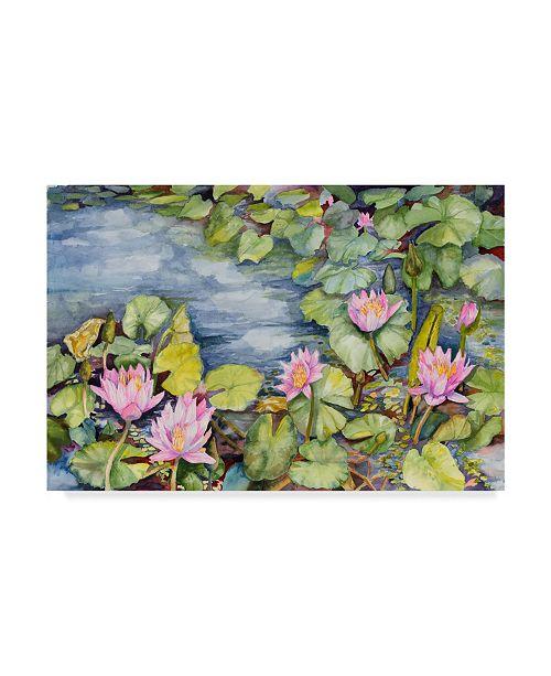 "Trademark Global Joanne Porter 'Lily Pond' Canvas Art - 12"" x 19"""