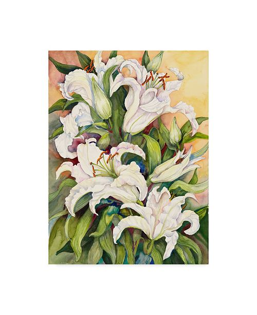 "Trademark Global Joanne Porter 'Lilies Basking In The Sun' Canvas Art - 14"" x 19"""