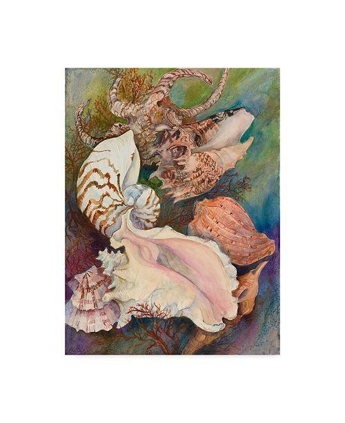 "Trademark Global Joanne Porter 'Collected Shells' Canvas Art - 14"" x 19"""