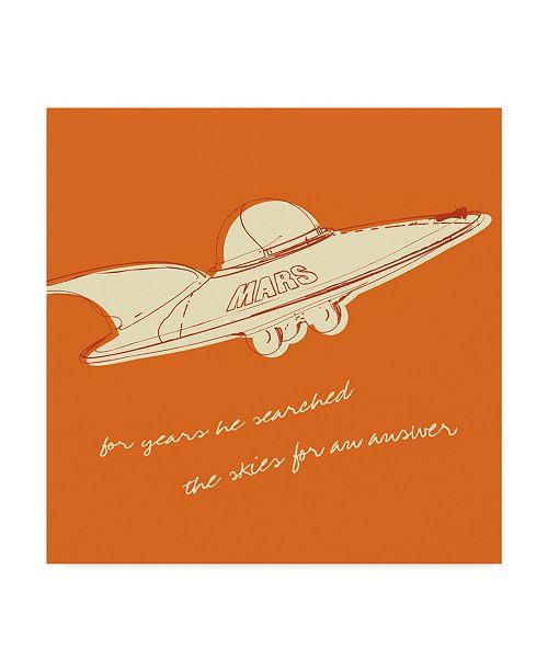 "Trademark Global John W. Golden 'Lunastrella Flying Saucer' Canvas Art - 14"" x 14"""
