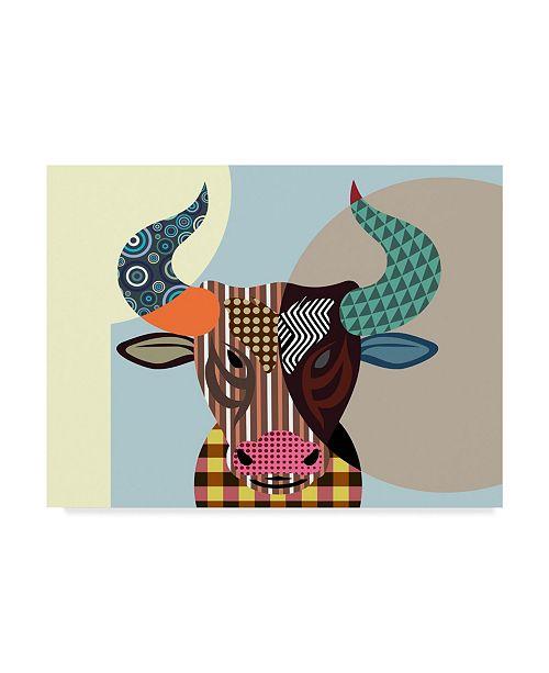 "Trademark Global Lanre Adefioye 'Bull Baiting' Canvas Art - 14"" x 19"""