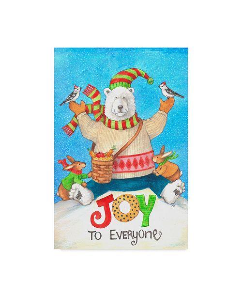 "Trademark Global Melinda Hipsher 'Polar Bear Joy To Everyone' Canvas Art - 12"" x 19"""